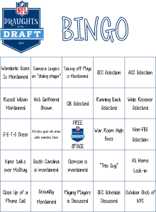 NFL Draft Bingo Board