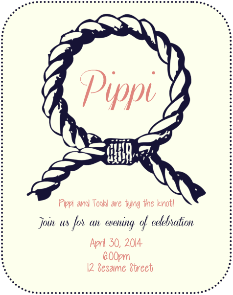 Pippi's Nautical Shower Invitation